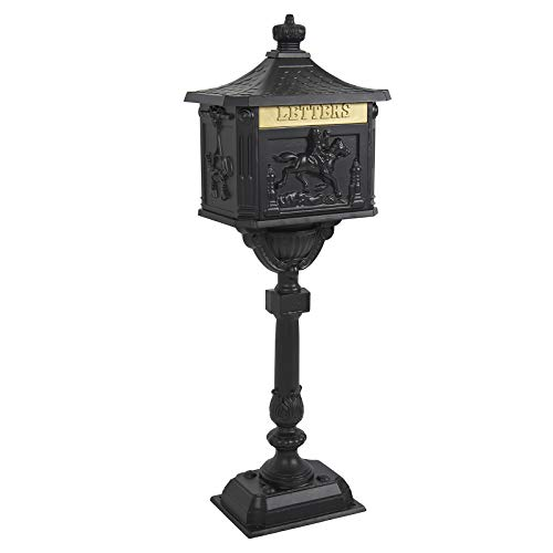 Best Choice Products Heavy Duty Cast Aluminum Vintage Mailbox