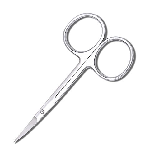 Fine Tip (Curved) Scissors 3.5 inch Extra Sharp Made from German Stainless Steel by ThreadNanny