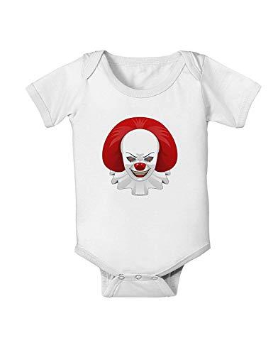 qidushop Kinder-Jumpsuit mit Clowngesicht, Halloween, Einteiler Gr. 12 - 18 Monate, weiß