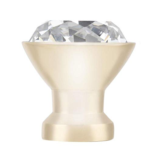 Maniglia per armadietto con pomello in Metallo Resistente + Cristallo Elegante Nuovo di Zecca per cassettiere(Small Single Hole Gold)