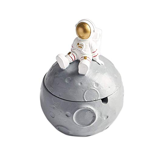 Cigar Astronaut Series a prueba de viento (con cubierta), cigarrillo antihollín para uso en exteriores o interiores, tendencia creativa interior (color: oro) BJY969 (color dorado con tapa)