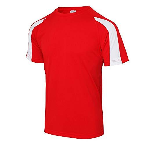 Just Cool - Camiseta Deportiva Transpirable tecnología Neoteric™ de Manga Corta para Hombre - Running/Gym/Deporte/Futbol