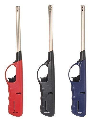 DRULINE 1 x Feuerzeug Gas XXL Stabfeuerzeug 27 cm lang nachfüllbar handlich schön NEU OV (Schwarz)