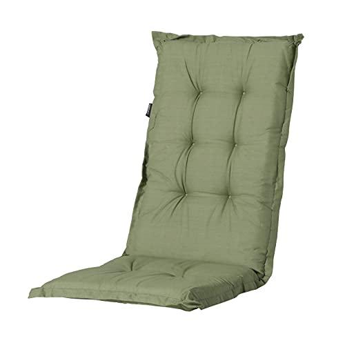 Madison Hochlehnerauflage Basic Green, ca. 123 x 50 x 8 cm, grün, 50% Baumwolle/50% Polyester