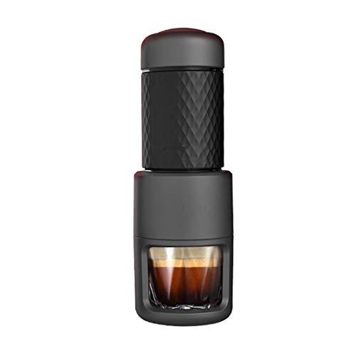 Ybzx Tragbare Kaffeemaschine, manuelle Espresso-Kaffeemaschine Kompatibel mit gemahlener Kaffee-Nespresso-Kapsel für Home Office Travel Outdoor Camping