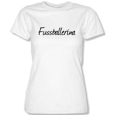 M&M-Shirts fussba llerina. T-Shirt Taille XS à XL Blanc Blanc XL