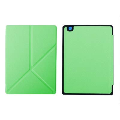 QiuKui Tab Custodie per Kobo Aura One, Protecive Shell Auto Sleep Slim Case Magnetic Stand Pelle Cover per Kobo Aura 7.8 Pollici Ebook (Colore : Green Origami)
