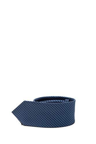 Calvin Klein Herren-Krawatte Micro Fantasie Saphir, Blau One size