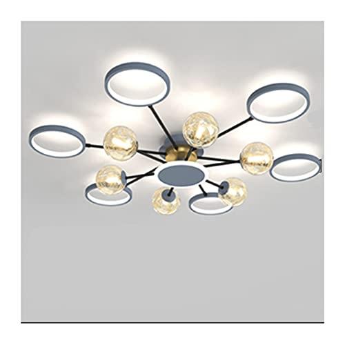 liushop Lámpara de Techo 12-Luces Simple Gris DIRIGIÓ Luz del Techo,Moderna Semi-empotrada for la Cocina,Sala de Estar,Comedor,Dormitorio,Corredor. Lámpara empotrada de Techo