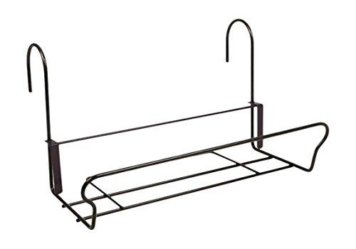 H.G. Balkonkastenhalter Universal mit Sicherheitshaken, Schwarz