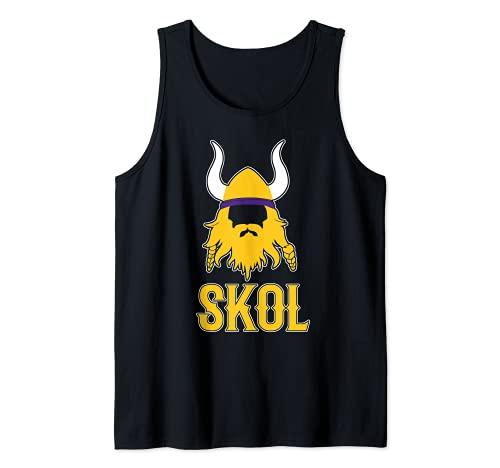 SKOL Guerrero vikingo escandinavo nórdico Camiseta sin Mangas