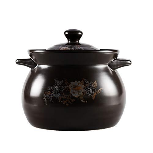 Faitout Casserole en céramique Cocotte feu ouvert Pot à haute température marmite à soupe santé Casserole grande capacité Casserole 1.8L, 2.7L, 3.8L, 5L, 6L cocotte staub (Size : 3.8L)