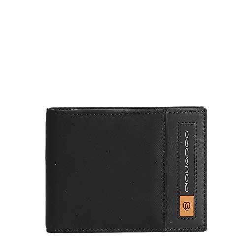 Portafoglio Piquadro PQ-Bios con portamonete Nero