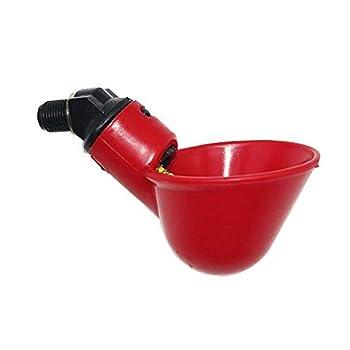 zunbo 5pcs Bol à Boire au Poulet, Automatique De Bol en Plastique à Boire De La Volaille,Volaille Eau Potable Tasses Plastique Coupe Bol Auto-Abreuvoir pour Volaille Poules, Rouge