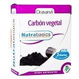 Nutrabasics, carbón vegetal indicado para ayudar a eliminar el exceso de gases 60caps vegetales