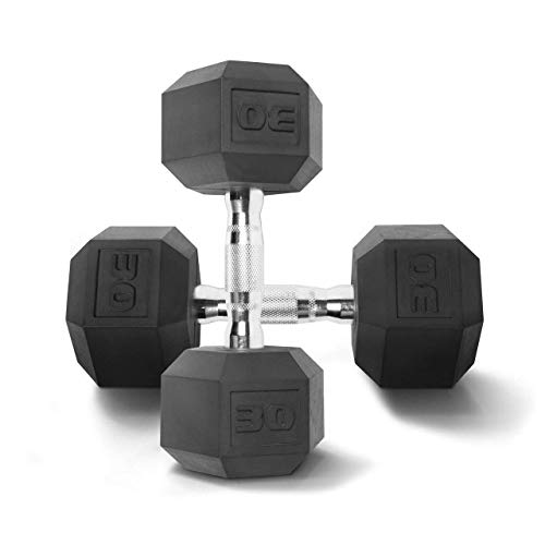 CAP Barbell Coated Hex Dumbbells (30 Pounds, Pair)