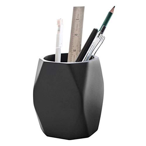 Soporte multifuncional para brochas de maquillaje, soporte para bolígrafos y bolígrafos de oficina para organizar el escritorio (color: blanco, tamaño: 10,5 x 8 cm)