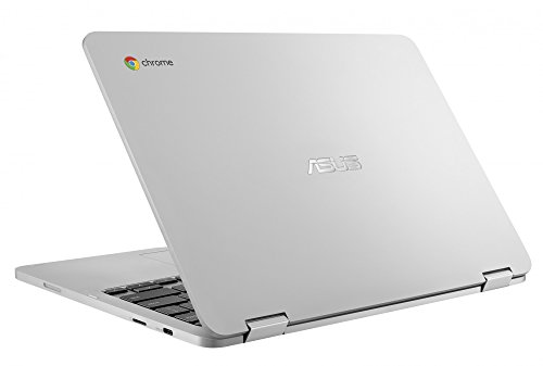 "ASUS Chromebook Flip C302 2-In-1 Laptop- 12.5"" Full HD 4-Way NanoEdge Touchscreen, Intel Core M5, 4GB RAM, 64GB Flash Storage, All-Metal Body, Backlit Keyboard, Chrome OS- C302CA-DH54 Silver"