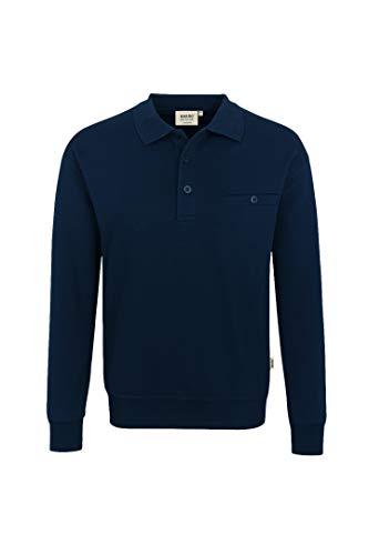 Hakro Herren Pocket-Polo-Sweatshirt Premium # 457 (L, tinte)