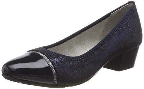 Jana 100% comfort Damen 8-8-22300-22 Pumps, Blau (Navy Glitter 898), 40 EU
