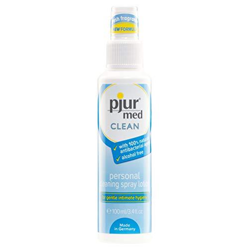 pjur med CLEAN - Hygienespray mit antibakteriellem Wirkstoff - zur schonenden Reinigung der Haut & Intimbereich (100ml)