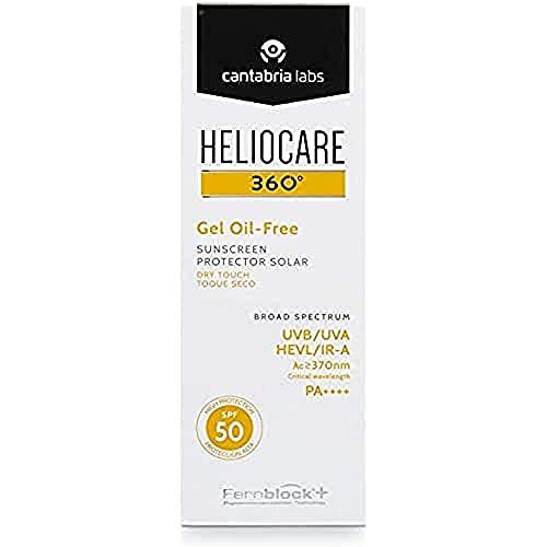 Heliocare 360º Gel Oil-Free SPF 50+ - Crema Solar Facial, Fotoprotector Avanzado, Ligero, Pieles Grasas, Tendencia Acneica, Acabado Mate y Tacto Seco, 50ml
