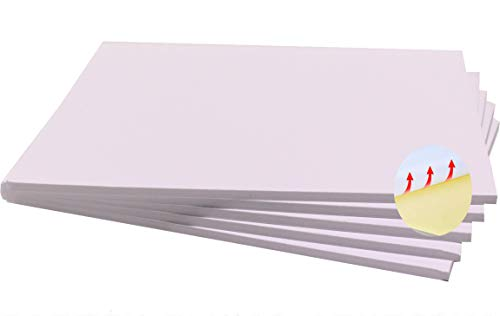 Chely Intermarket, cartón pluma adhesivo 100x140 cm (5 unidades) blanco con espesor de 5mm, apto para usos de manualidades, trabajos fotográficos o presentación de trabajo(541-100x140*5-0,5)