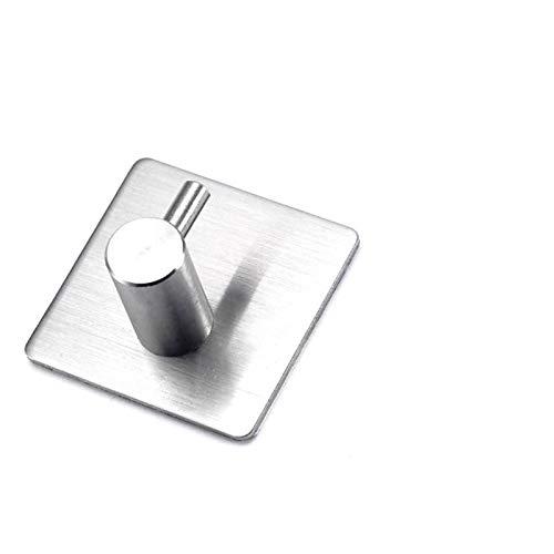 Ganchos de baño para puerta de cocina Percha de pared Ganchos de pared Colgador autoadhesivo Robe Toalla Hancho 304 Acero inoxidable Genuino 5pcs (Color : Silver)