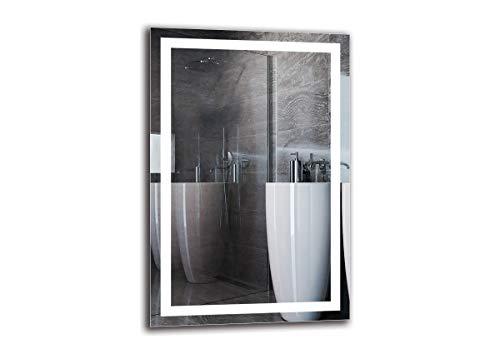 Espejo LED Premium - Dimensiones del Espejo 60x90 cm - Espejo de baño con iluminación LED - Espejo de Pared - Espejo de luz - Espejo con iluminación - ARTTOR M1ZP-47-60x90 - Blanco frío 6500K