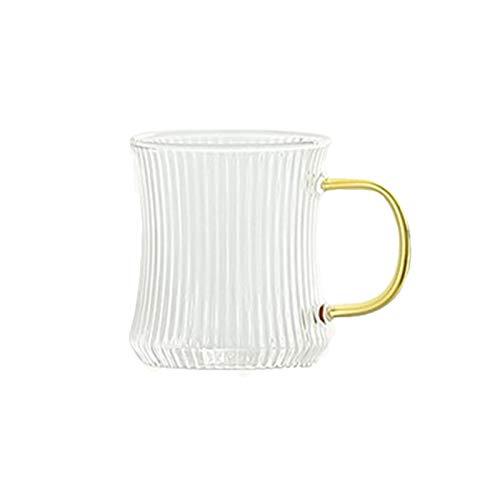 QAX Jarra de agua de cristal, jarra de agua con tapa y asa, para bebidas caseras, té y jugo, taza