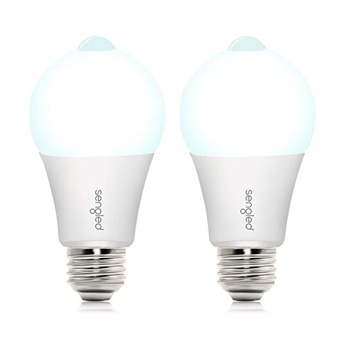 Sengled Motion Sensor Outdoor Light Bulbs, Motion Activated Dusk to Dawn Light Bulb, A19 5000K Daylight LED Security Bulb for Front Door Porch, Outdoor/Indoor, 11W(75W Equivalent) 1200LM, 2 Pack