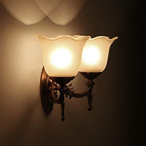 Raxinbang Luces de Pared Lámpara De Pared De Cristal del Pasillo del Lado De La Cama del Hotel Minimalista Moderno Lámpara De Pared Principal Doble del Pasillo del Dormitorio del LED