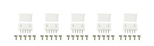 5Stück 4S XH2.54-5P stekker met bus & krimpcontacten perfect voor Arduino Lipo lithium-ionen accu's Balance Port