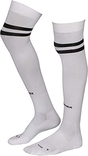 AllsBalls Sports Socks Football Stocking Dry Fast Elite Unisex Knee High Striped Sports Football/Soccer/Hockey Rugby Tube Socks for Men, Women, Boys & Girls(Large)