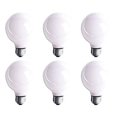 G25 White Globe Incandescent Light Bulb