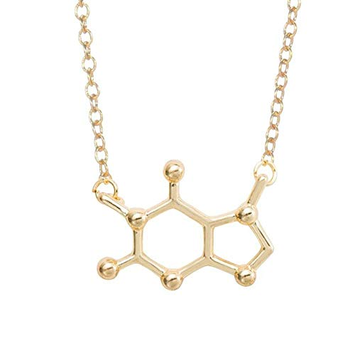 QUWE Necklaces For Women,Elegant Chic Chemical Formula Pendant Golden Anchor Chain Jewelry Forweddings Proms Parties Christmas Festival Gifts