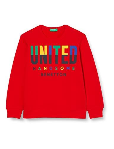United Colors of Benetton 3J68C14Q5 Felpa con Cappuccio, Red 015, 3XL Bambino