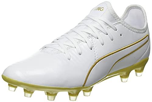 PUMA King PRO FG, Scarpe da Calcio Unisex-Adulto, Bianco White Team Gold, 46 EU