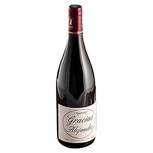 Regalo Personalizado de Agradecimiento: Botella de Vino Personalizada 'Gracias' para Regalar a Tus Seres Queridos y agradecerles Toda su Ayuda