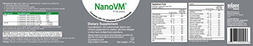 Solace Nutrition NanoVM 9-18 (275g) Flavorless Powdered Hypoallergenic, Carbohydrate Free Vitamin & Mineral Supplement…