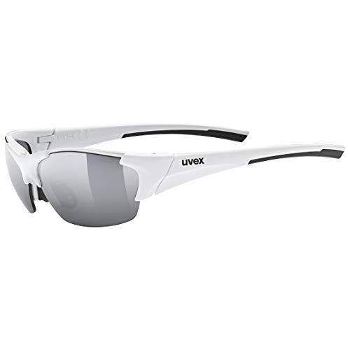 uvex Unisex– Erwachsene, blaze III Sportbrille, inkl. Wechselscheiben, white black/silver, one size
