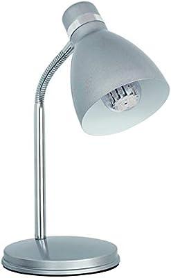 Lampara de escritorio flexible PLATA de mesa max 40W E14 220-240V ...