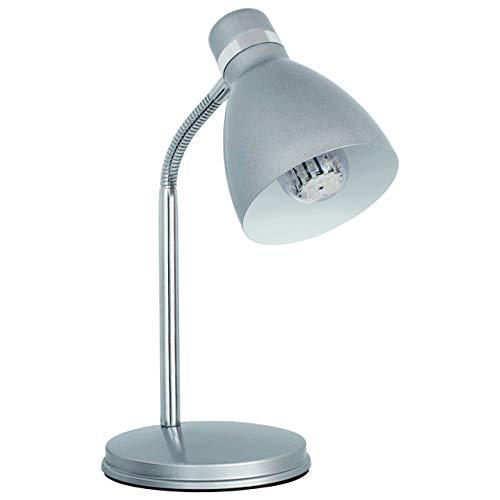 Lampara de escritorio flexible PLATA de mesa max 40W E14 220-240V 07560