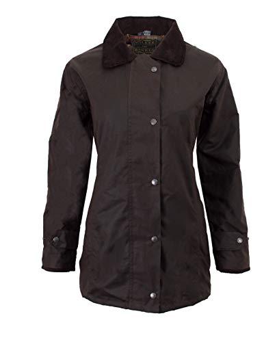 Walker and Hawkes Damen Country-Jacke gewachst - für die Jagd geeignet - klassischer Stil - Braun - Größen 34 bis 44