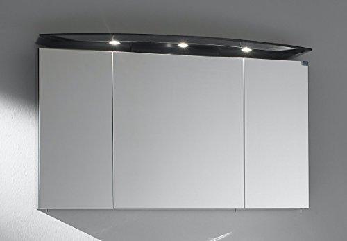 OPTIFT MARLIN Spiegelschrank 120cm mit Halogenstrahlern (Anthrazit glänzend)
