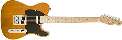 Squier de Fender - Guitarra eléctrica Squier Fender Affinity Telecaster para zurdos, con diapasón de arce - rubio caramelo