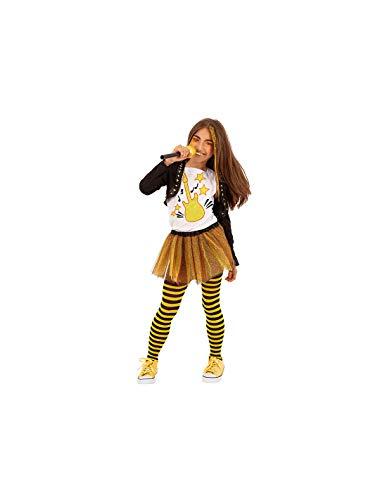 DISBACANAL Disfraz Roquera Roxy para nia - -, 8-10 aos