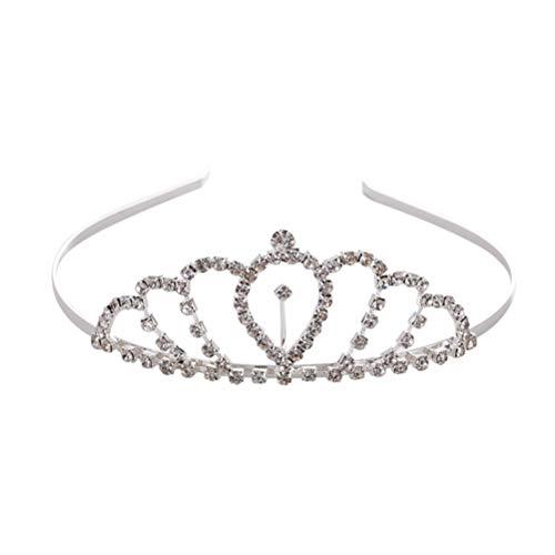 Couronne simple cristal exquis cerceau cheveux bandeau noble accessoires de cheveux de mariage