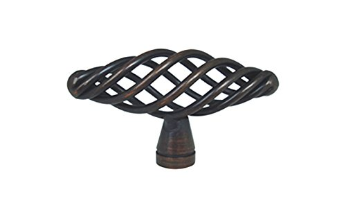 """15 Pack Oil Rubbed Bronze Bird Cage Birdcage Oval Nest Twist Wire Swirl 2-3/8"""" (60mm) Kitchen Cabinet Drawer Hardware Pull Knob 1338-60"""