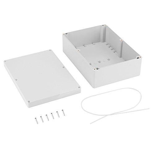Keenso Elektrische Gehäusekasten IP65 wasserdichte Anschlussdosen Kabelverbinder ABS-Kunststoff Elektrische Anschlussdosen Outdoor Projekt Box Gehäuse Instrumentenkoffer